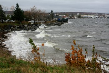 Winds and tide in Rockland Harbor